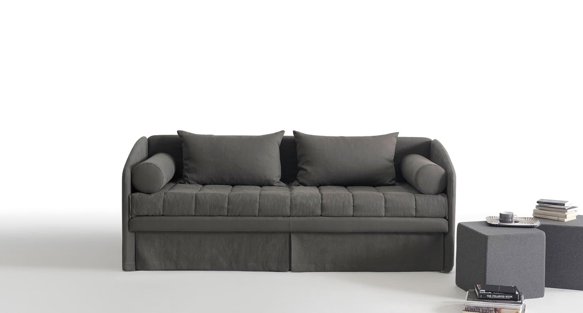 Divano leto great divano letto con vano contenitore x in colori ecopelle o microfibra with - Divano letto toronto ...