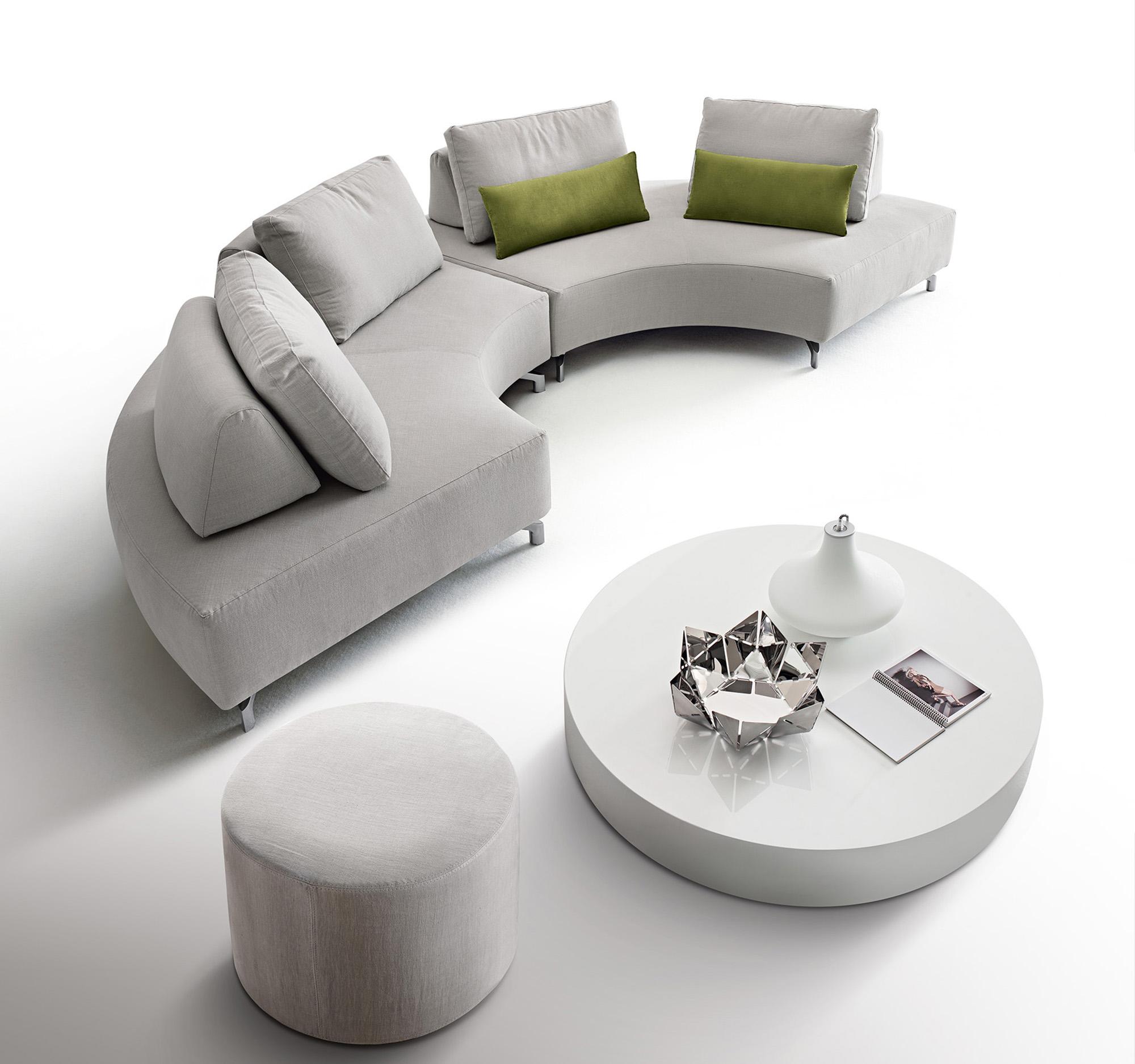Divano Moderno A Semicerchio.Modular Sofa Fly Light Dema