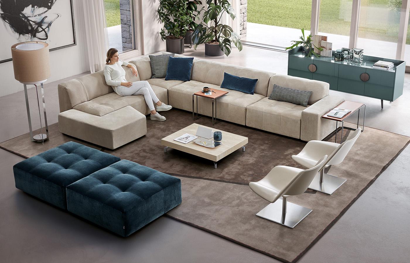 Divano componibile modulor dema - Divano diesis divani e divani ...